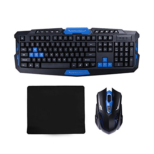 zibuyu 2 4g wireless gaming keyboard and game mouse set combo console players. Black Bedroom Furniture Sets. Home Design Ideas